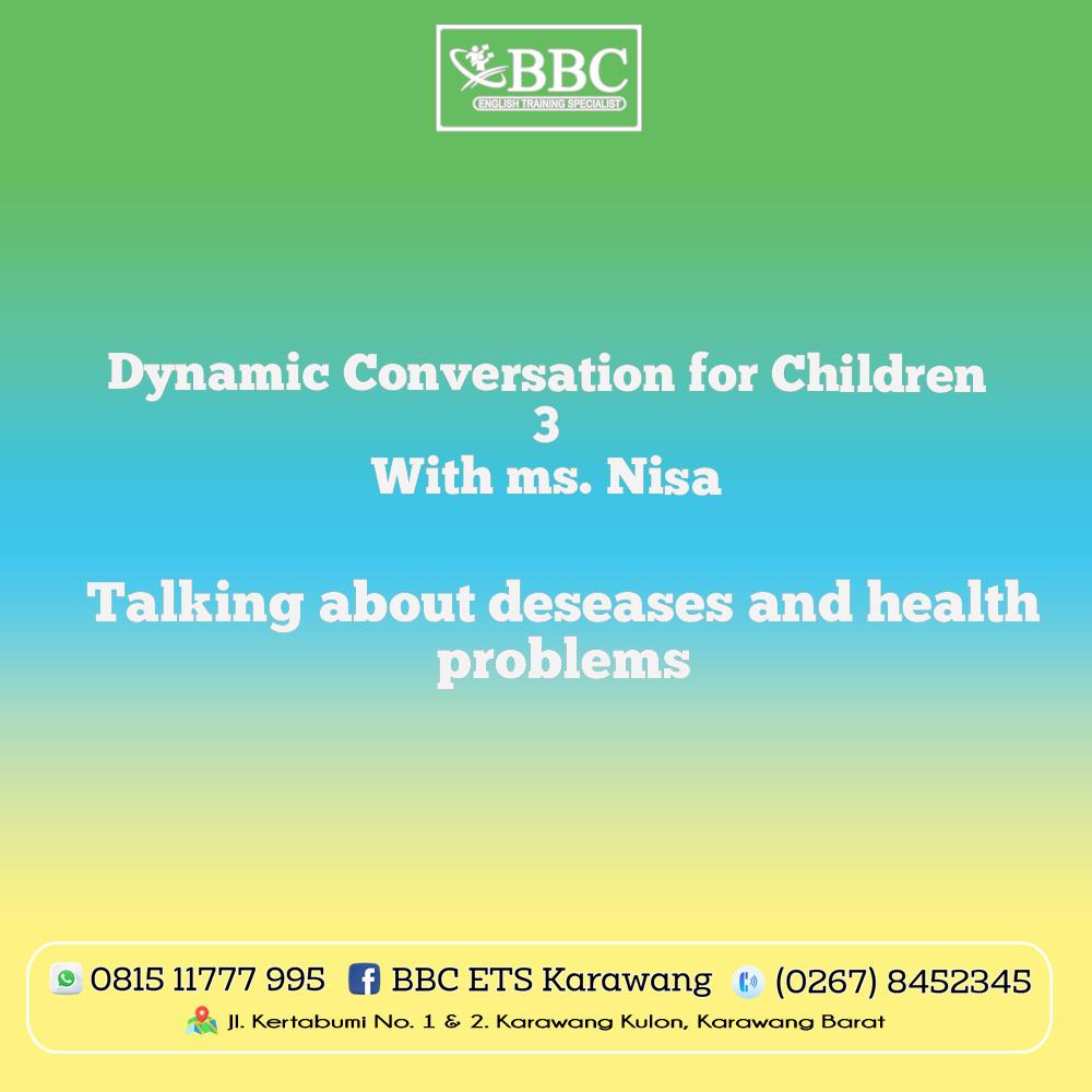 Berdiskusi Tentang Penyakit dan Mencari Solusi Untuk Mengatasinya Oleh BBC-ETS Karawang