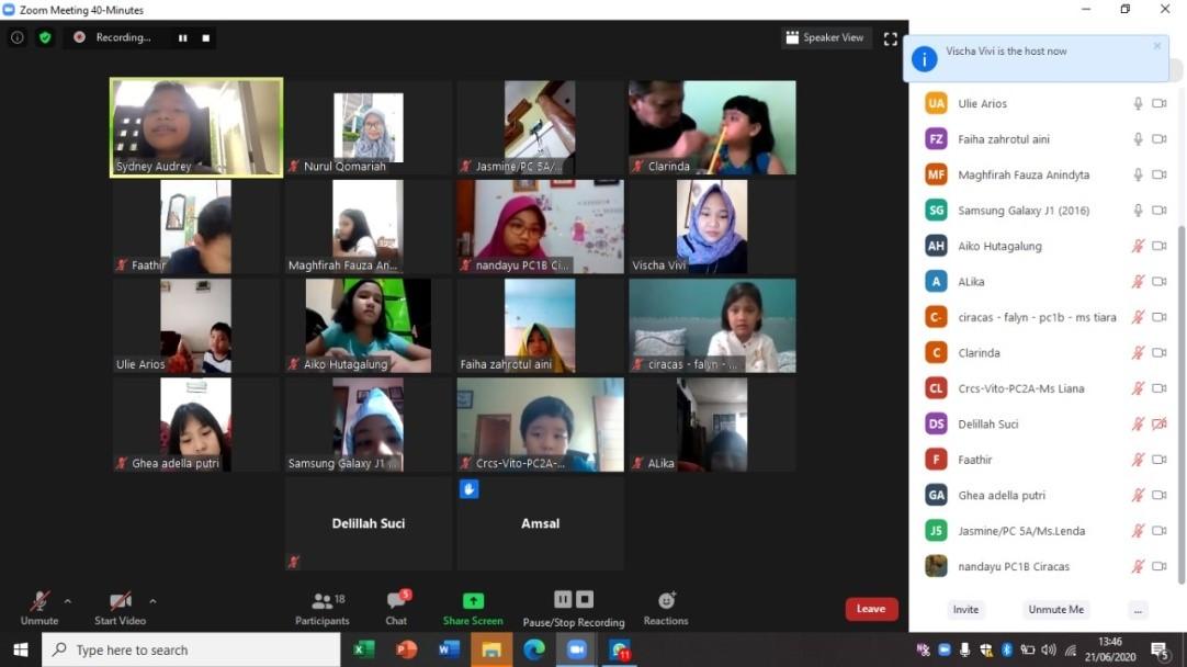 Kegiatan Co-Curricular Sunday Meeting Melalui Online by BBC ETS Ciracas