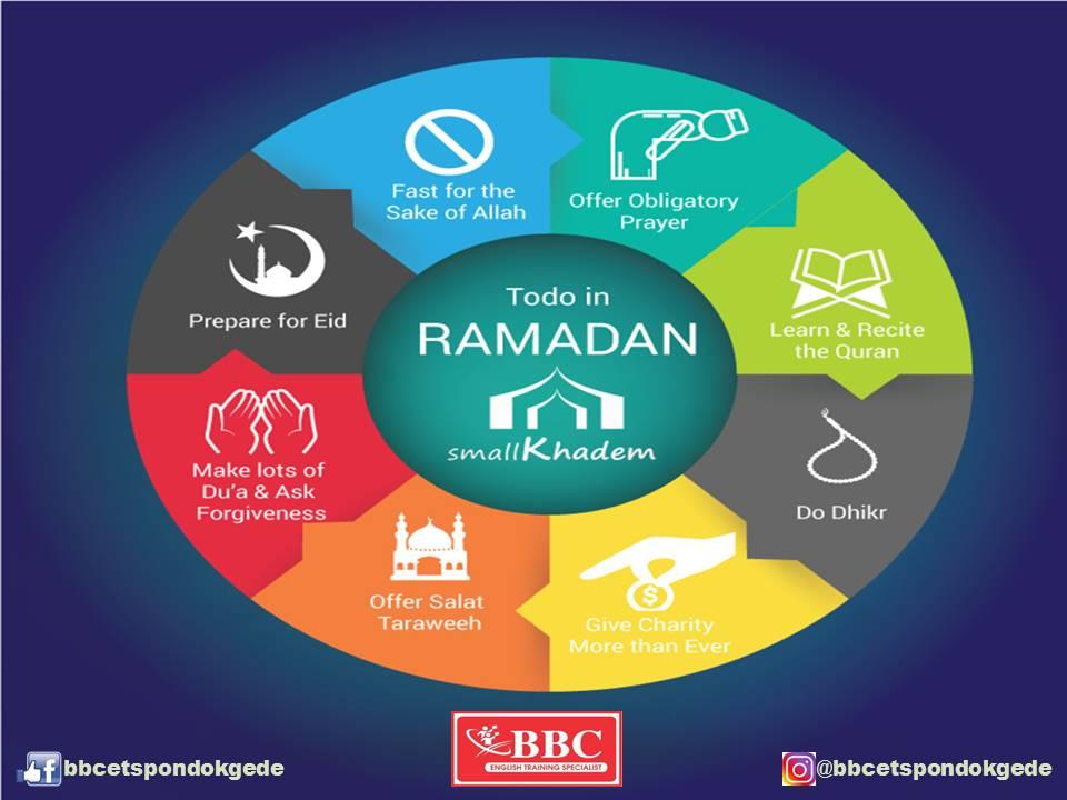 Melewatkan Ramadhan Tahun Ini Dengan Kondisi Yang Baru Oleh BBC-ETS Pondok Gede