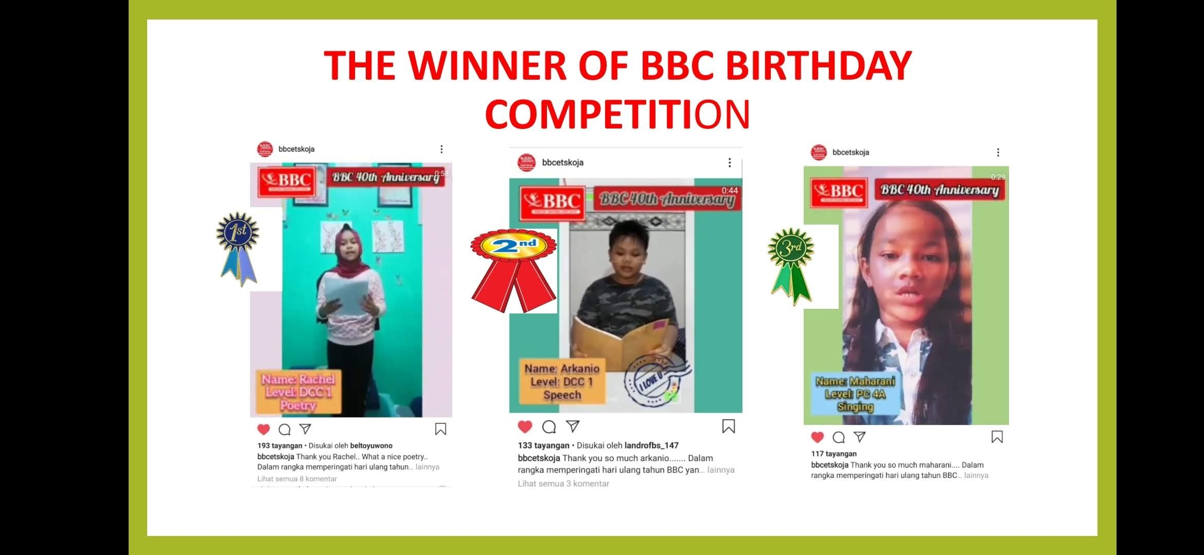 BBC ETS Birthday Competition by BBC ETS Koja