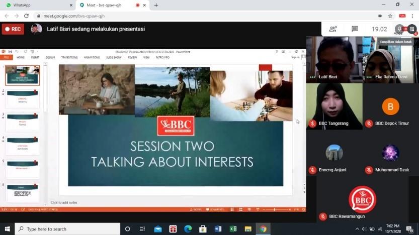 Keseruan Kursus Bahasa Inggris Gratis BBC ETS by BBC ETS Kemayoran