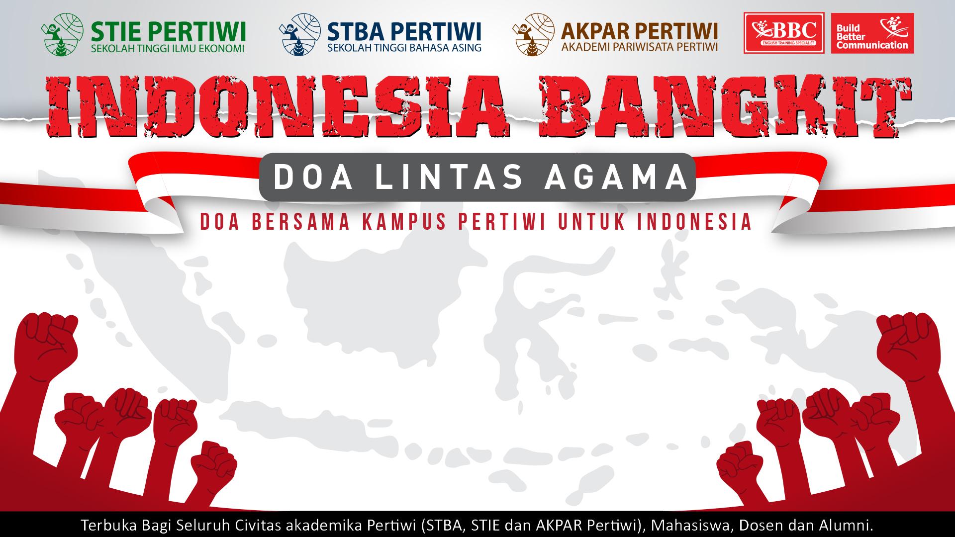 Gerakan Indonesia Bangkit : Doa Lintas Agama Untuk Bumi Pertiwi